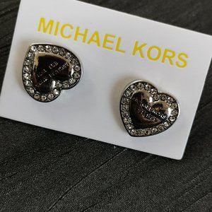 micheal kors earring x sliver x vintage